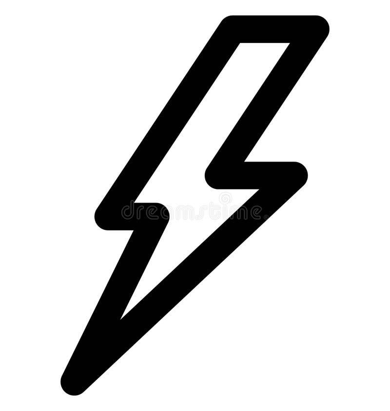 Línea intrépida icono del trueno que puede modificarse o corregir y colorear fácilmente también libre illustration