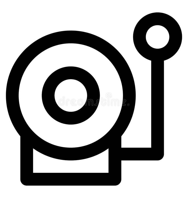 Línea intrépida icono del walkman que puede modificarse o corregir y colorear fácilmente también ilustración del vector