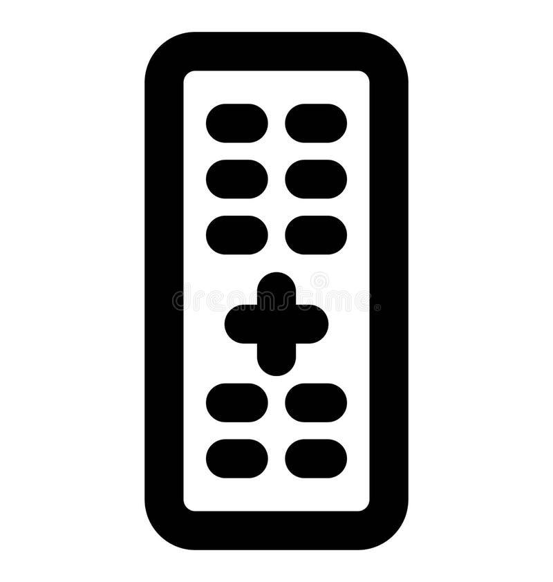 Línea intrépida remota icono que puede modificarse o corregir y colorear fácilmente también ilustración del vector