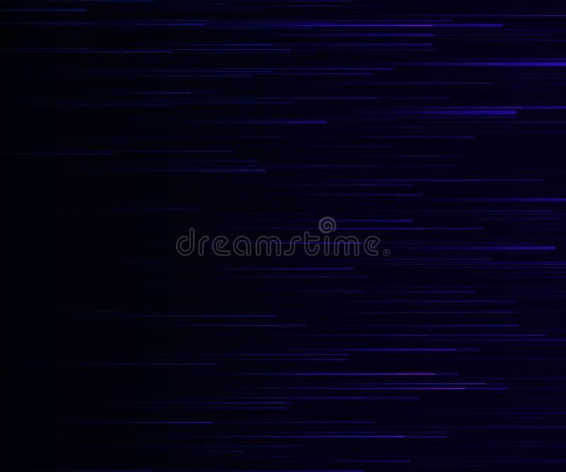 Línea ligera azul de la velocidad Vector del efecto luminoso libre illustration