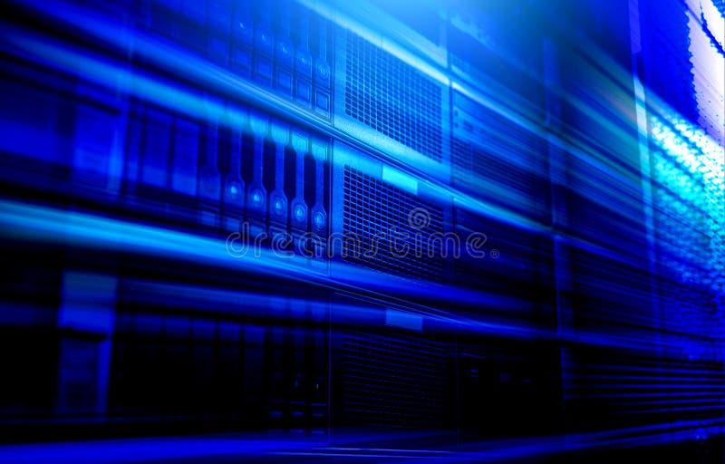 Línea ligera falta de definición de movimiento, simulación de la transferencia de datos, tono moderno de la velocidad del azul de imagen de archivo