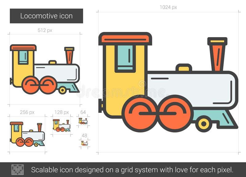 Línea locomotora icono ilustración del vector