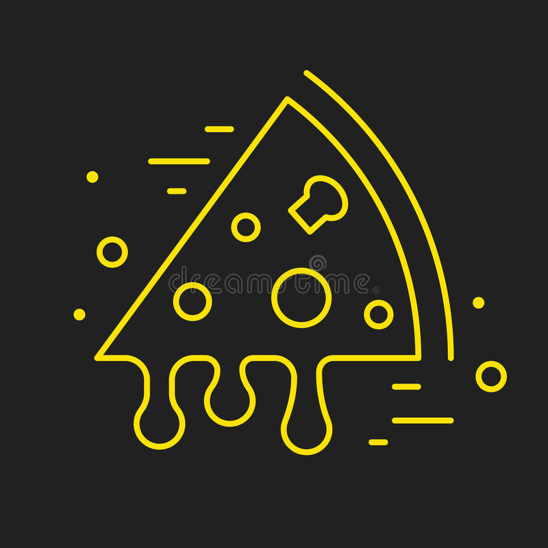 Línea Logo Food o bebida ilustración del vector
