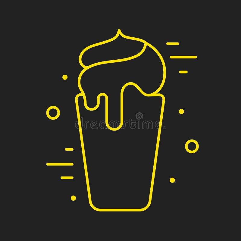 Línea Logo Food o bebida stock de ilustración