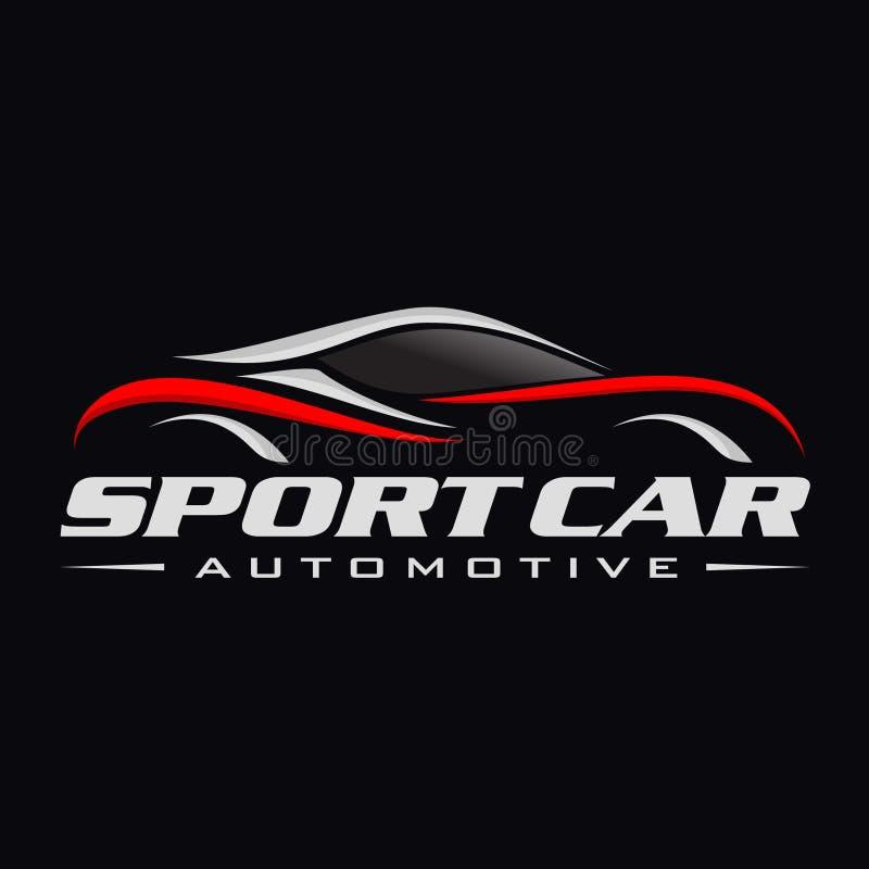 Línea logotipo del coche libre illustration
