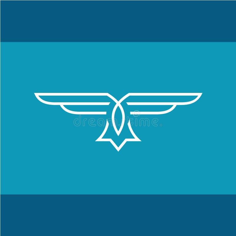 Línea logotipo del vector de Eagle ilustración del vector