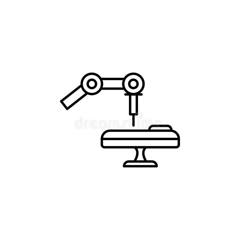 Línea médica icono del concepto de la operación del robot Ejemplo simple del elemento Diseño médico del símbolo del esquema del c ilustración del vector