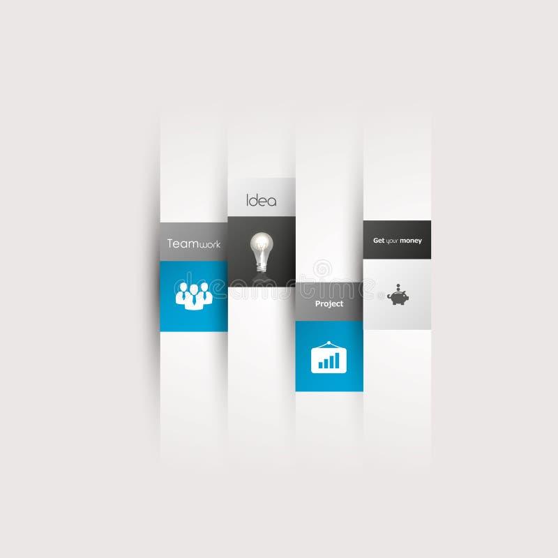 Línea mínima de la plantilla del infographics del estilo del diseño moderno. stock de ilustración