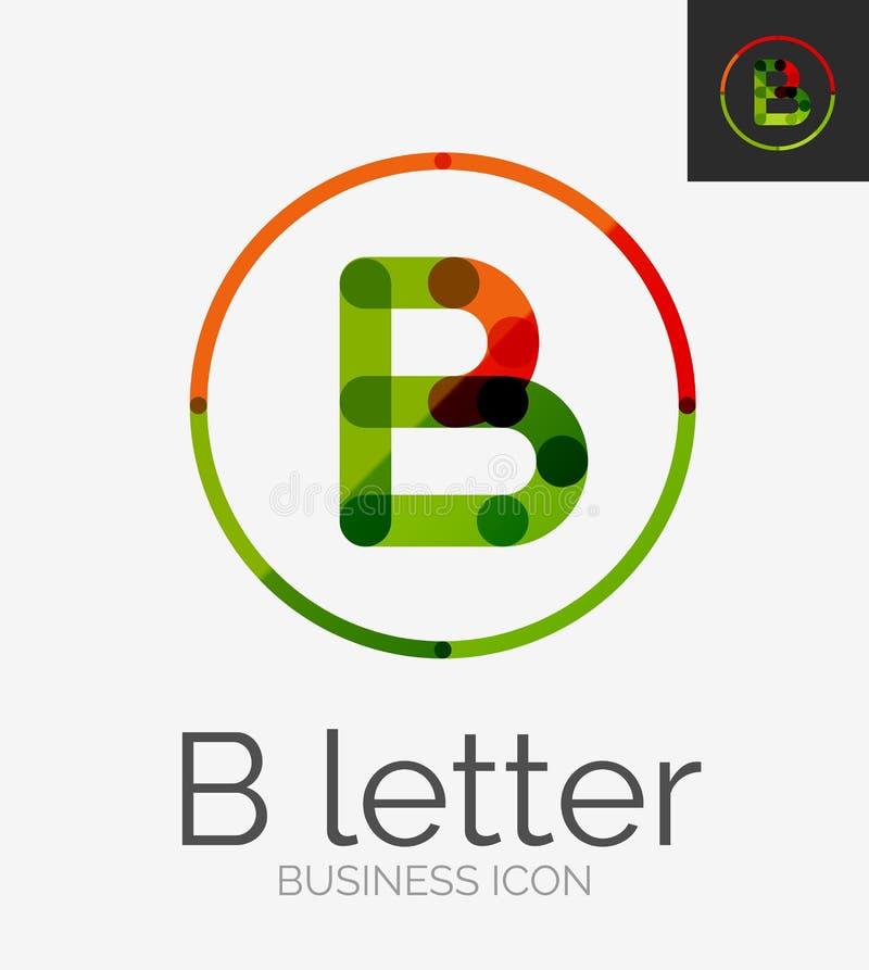 Línea mínima logotipo del diseño stock de ilustración