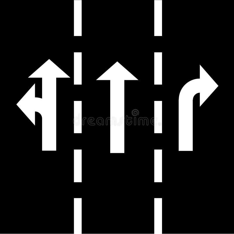 Línea marca de la flecha libre illustration