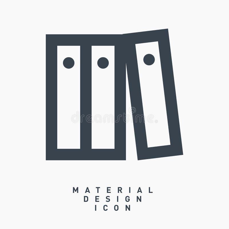 Línea material icono del diseño de las carpetas de los archivos de la carpeta del vector foto de archivo libre de regalías