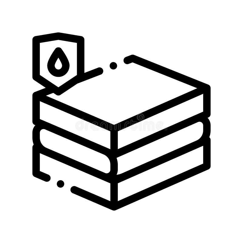 Línea material impermeable icono del vector del conglomerado libre illustration