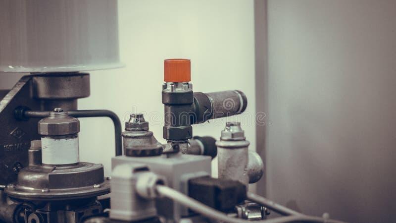 Línea mecánica industrial sistema de la fabricación fotografía de archivo libre de regalías