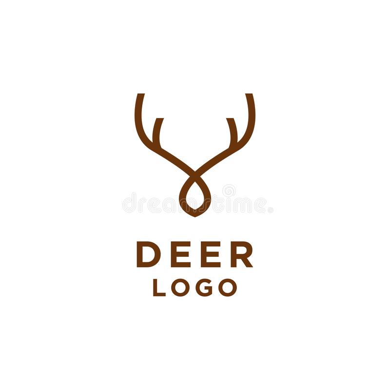 Línea minimalista estilo del logotipo de los ciervos ilustración del vector