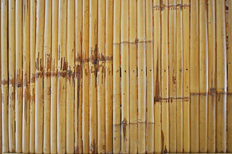 Línea modelo de listones de bambú foto de archivo