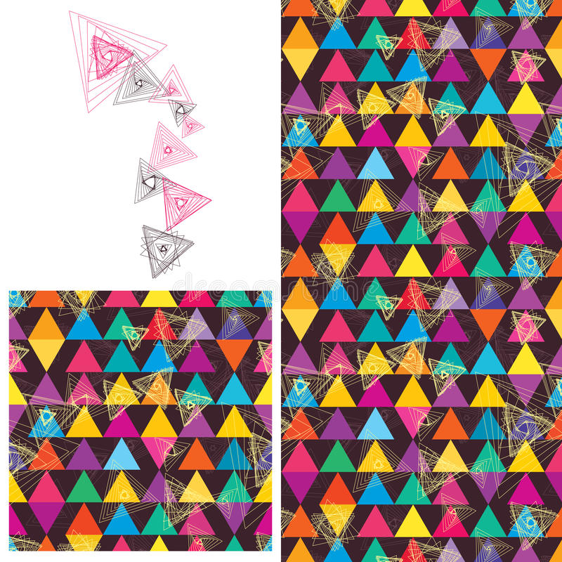 Línea modelo inconsútil anormal del triángulo libre illustration