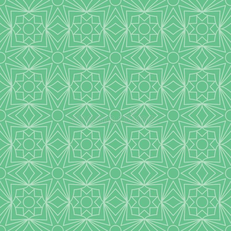 Línea modelo inconsútil de la estrella del Ramadán del verde de la simetría libre illustration