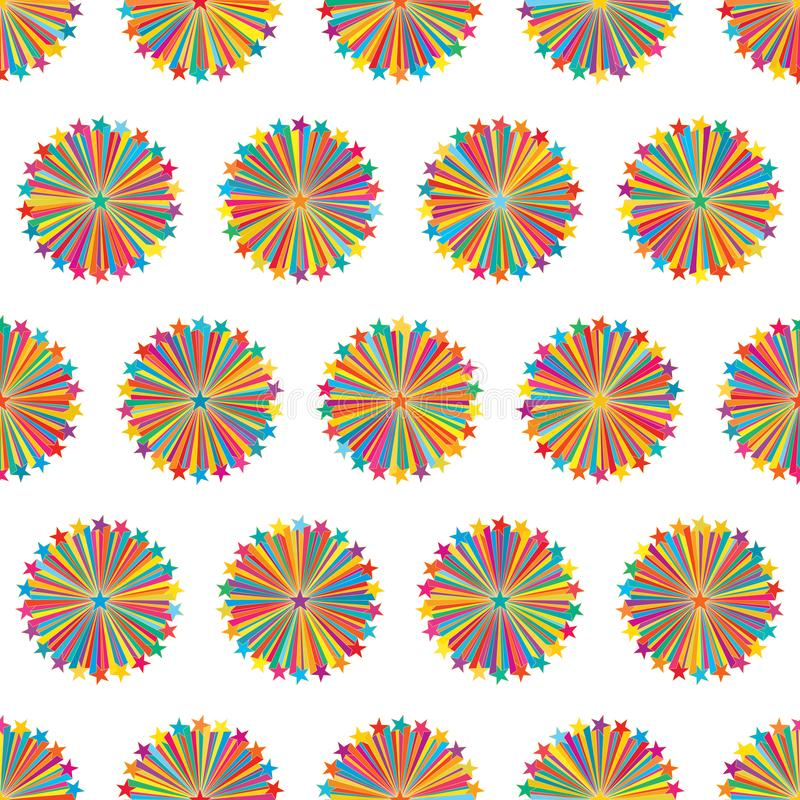 Línea modelo inconsútil de la estrella de la simetría colorida del rayo libre illustration