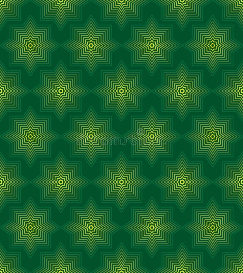Línea modelo inconsútil de la forma del Ramadán de la simetría verde del color libre illustration