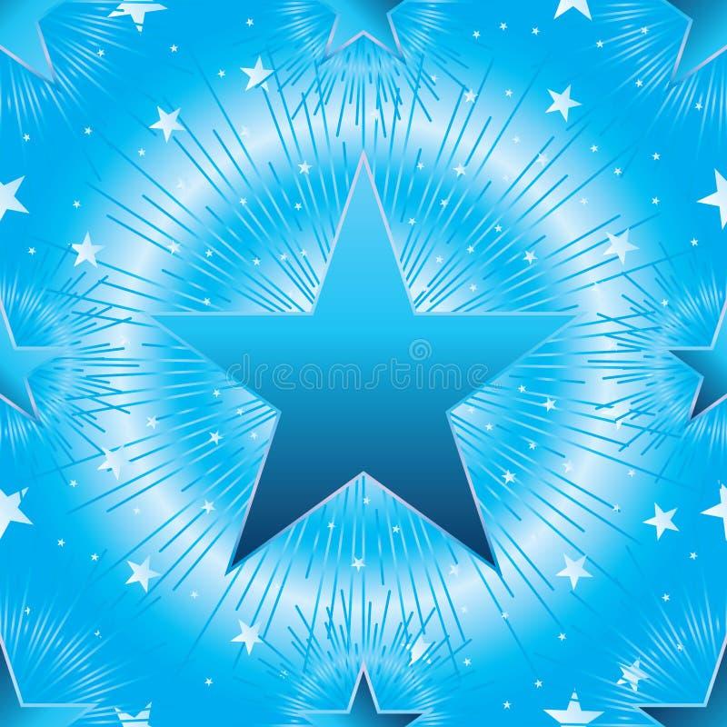 Línea modelo inconsútil del cielo de la estrella del rayo stock de ilustración