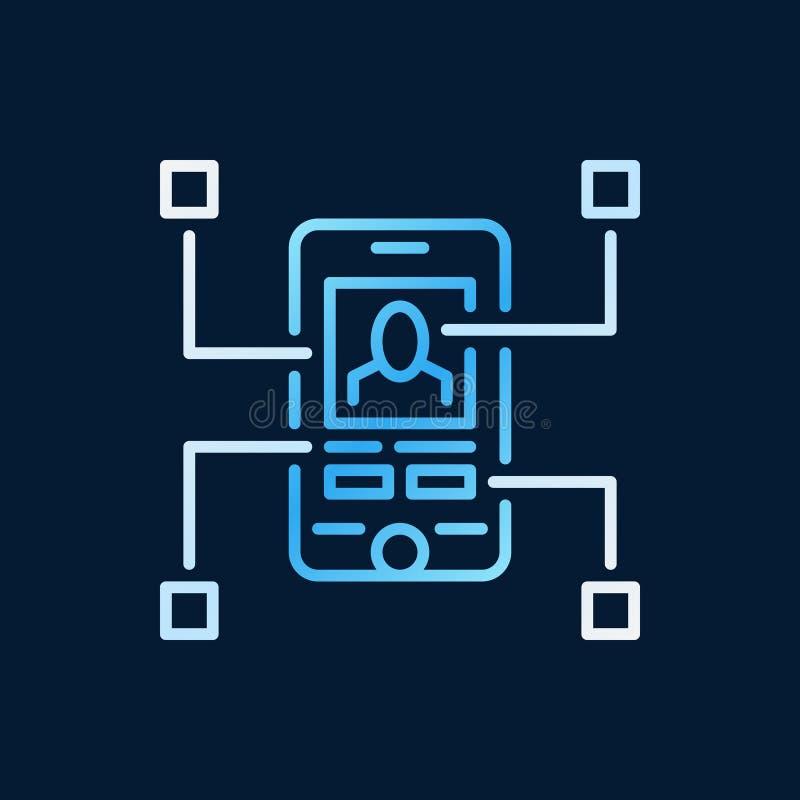 Línea moderna creativa icono del App del vector móvil del desarrollo libre illustration