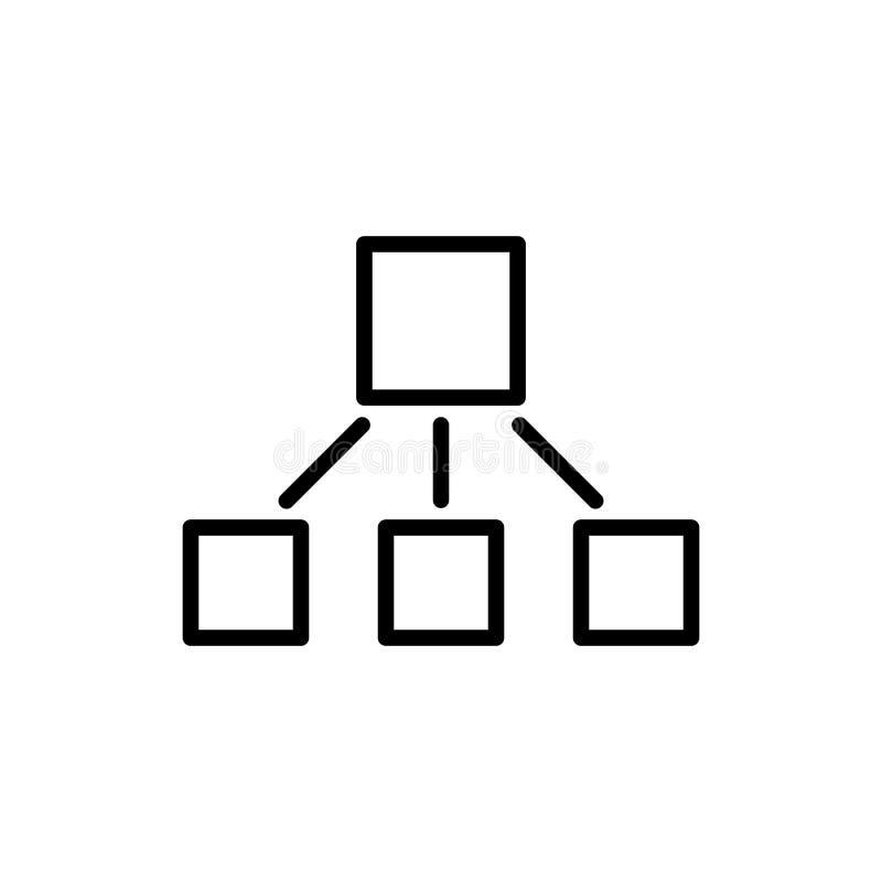 Línea moderna icono de la jerarquía ilustración del vector
