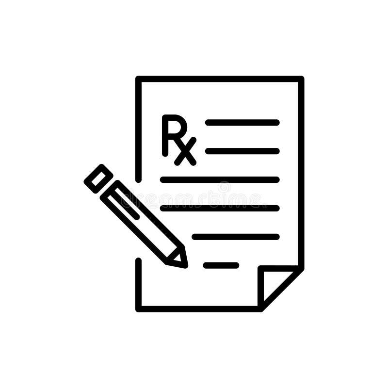 Línea moderna icono de la prescripción libre illustration