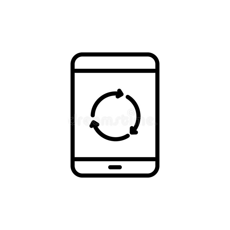 Línea moderna icono de la tableta stock de ilustración