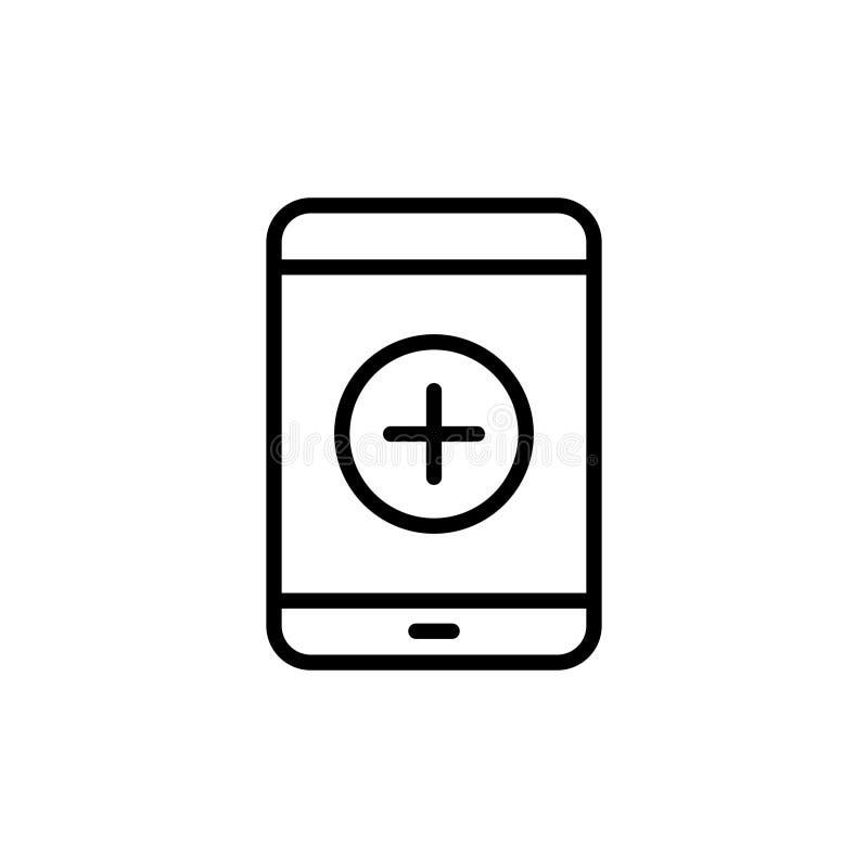 Línea moderna icono de la tableta libre illustration