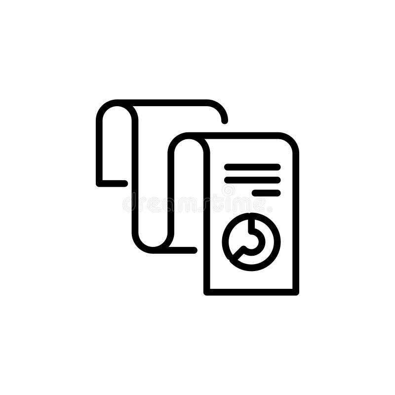 Línea moderna icono del informe libre illustration