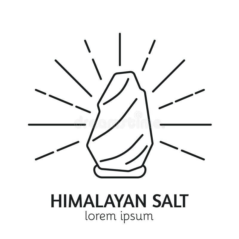Línea moderna plantilla del logotipo de la sauna del estilo stock de ilustración