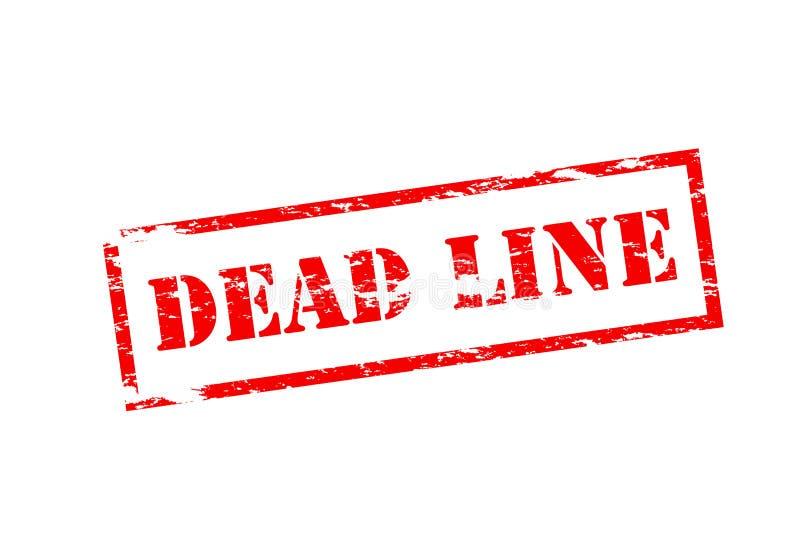 Línea muerta stock de ilustración