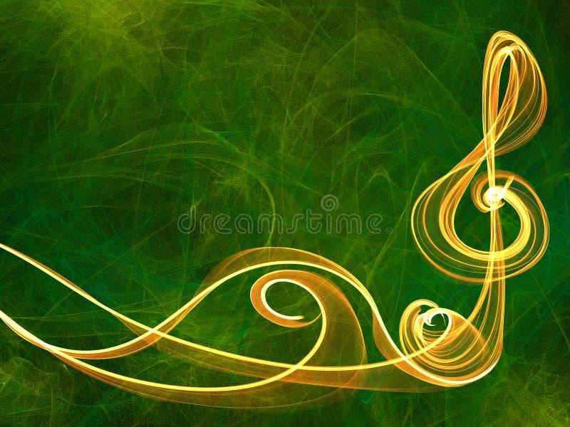 Línea multicolora fondo de la muestra de la música del ornamento stock de ilustración