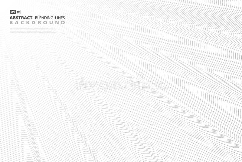 Línea negra abstracta diseño de la mezcla del vector para las ilustraciones de la cubierta Vector eps10 stock de ilustración