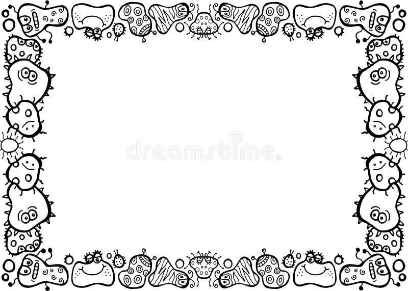 Línea negra frontera del germen del garabato ilustración del vector