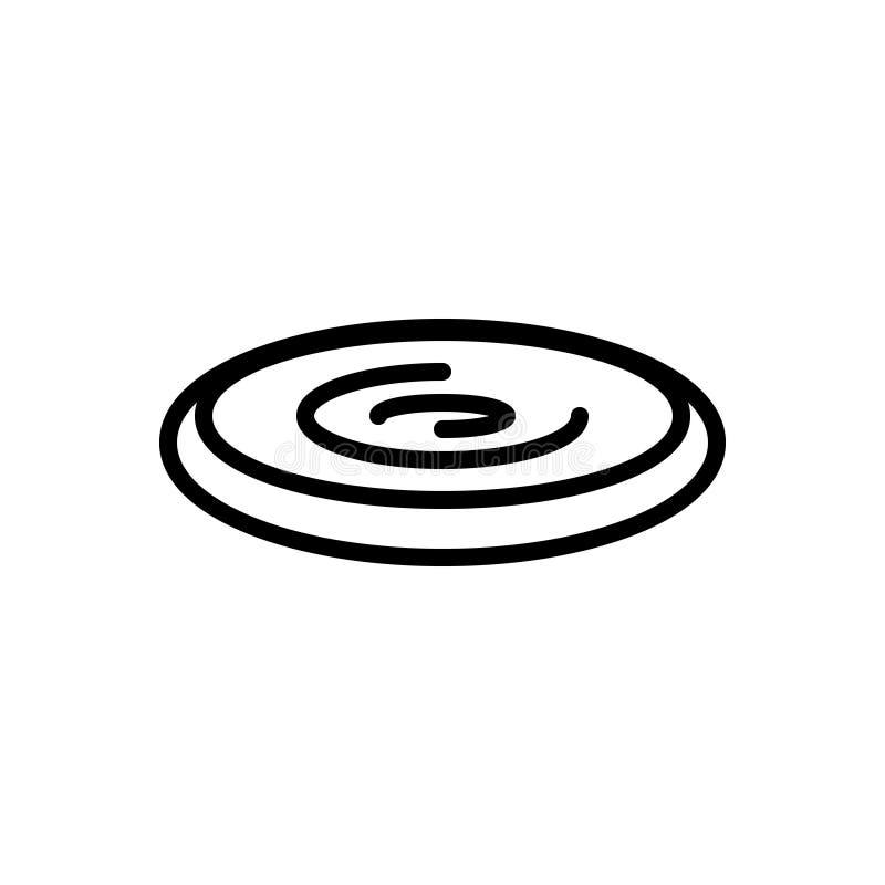 Línea negra icono para último, el infinito y el endlessness ilustración del vector