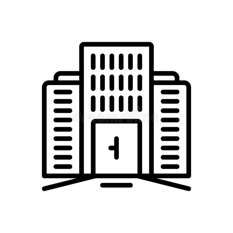 Línea negra icono para comercial, mercantil y la propiedad libre illustration