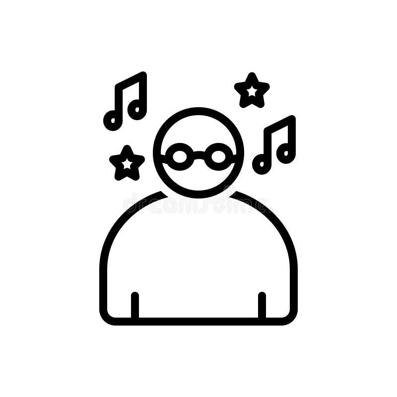 Línea negra icono para despreocupado, la personalidad e imprudente libre illustration