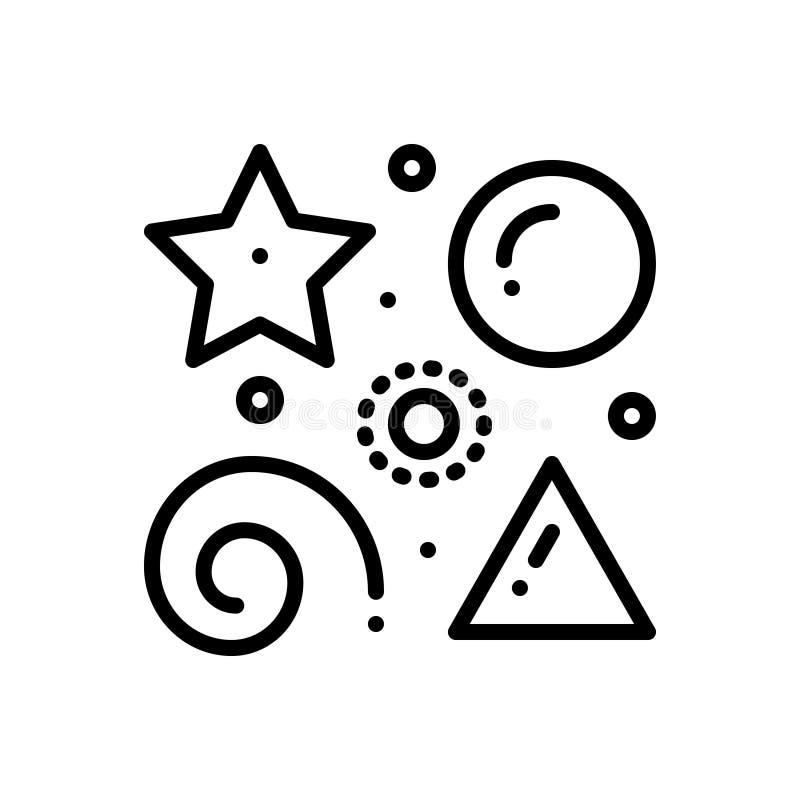 L?nea negra icono para diverso, diferente y el tipo libre illustration