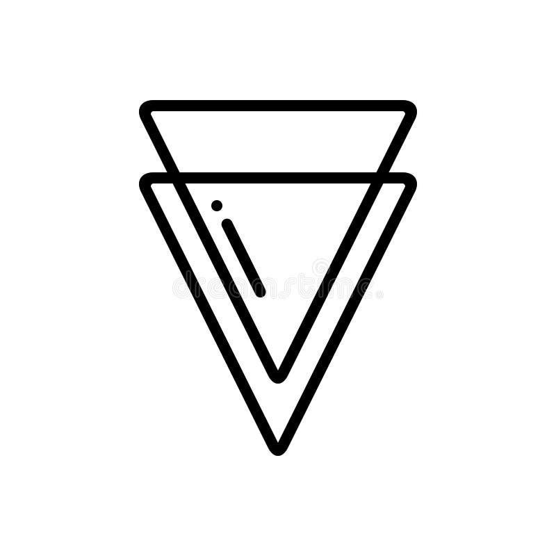 Línea negra icono para el borde, crypto y la moneda libre illustration