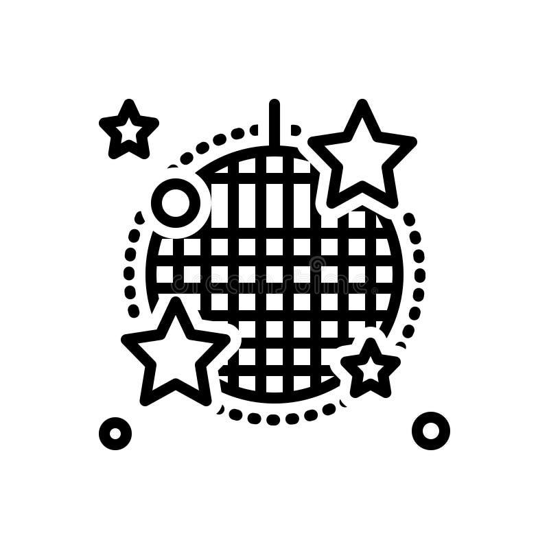 Línea negra icono para el cabaret, la etapa y el club nocturno libre illustration