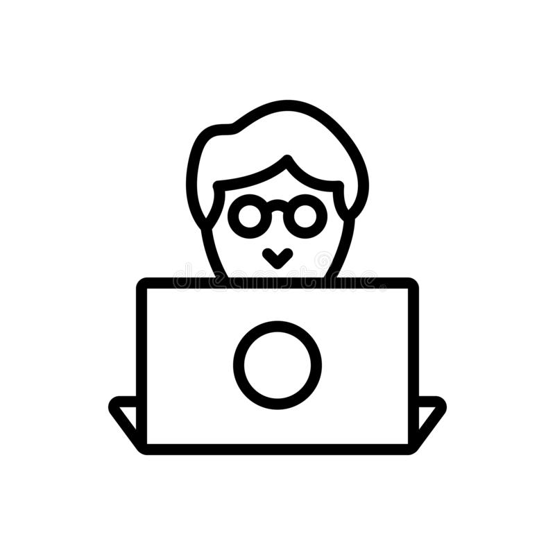 Línea negra icono para el diseñador, el programador y el usuario libre illustration