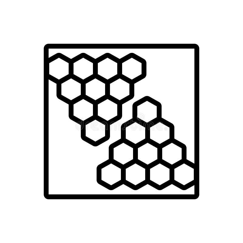 Línea negra icono para el fondo, el terraplén y el modelo libre illustration