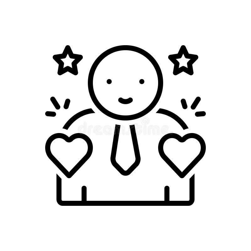 Línea negra icono para incorruptible, la honradez y el montante libre illustration