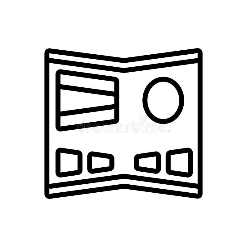 Línea negra icono para la exhibición flexible, resistente y flexible libre illustration
