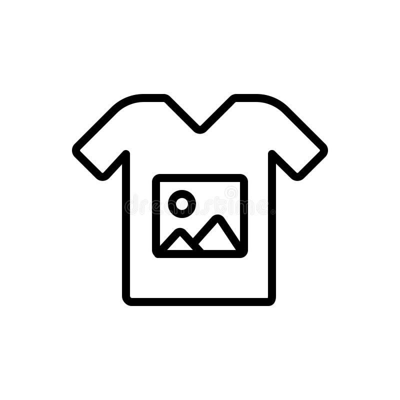 Línea negra icono para la impresión de encargo, la camiseta y la impresión libre illustration