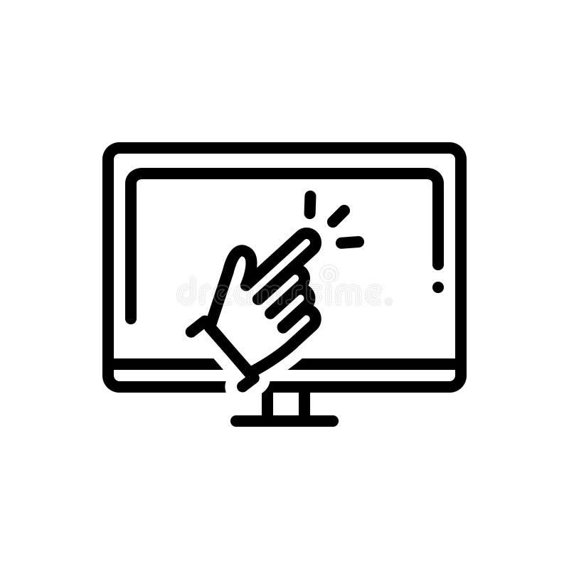 Línea negra icono para las capacidades, la capacitación y la capacidad ilustración del vector