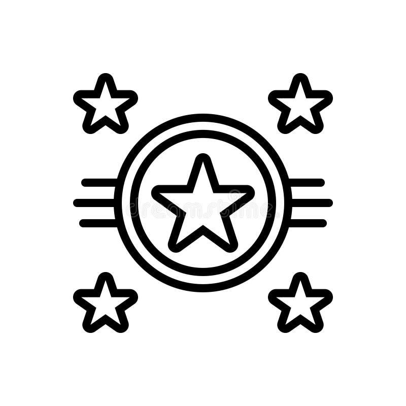 Línea negra icono para las estrellas, la chispa y el centelleo libre illustration