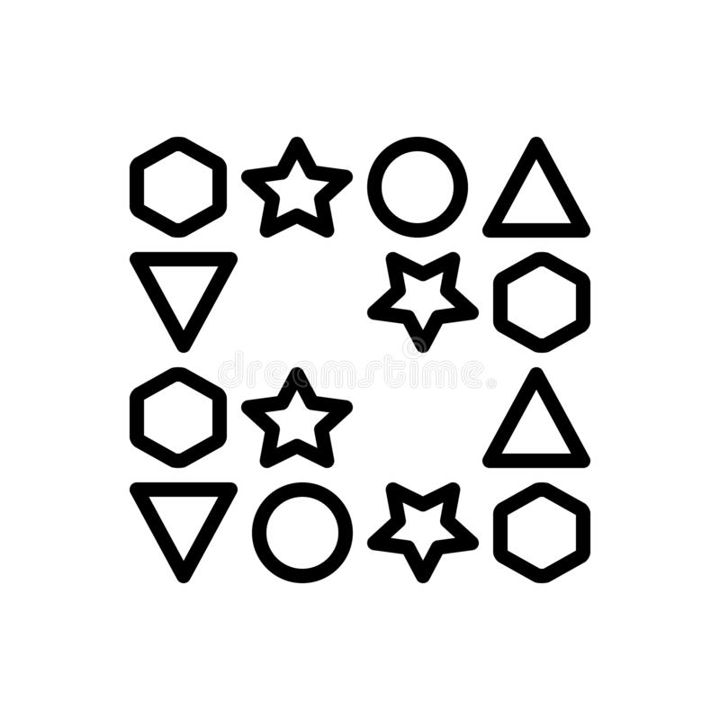 Línea negra icono para los huecos, el intervalo y el espacio ilustración del vector
