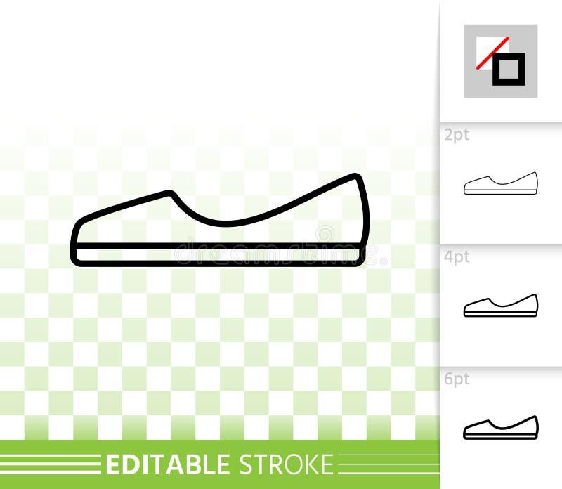 Línea negra simple icono de los zapatos de las mujeres del vector libre illustration